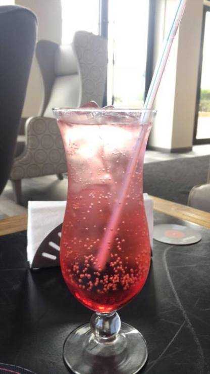 Pomegranate Italian Soda